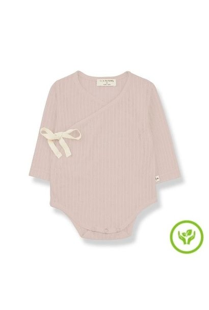 1+ in the family newborn melisa body organic lace knitting nude (romper)