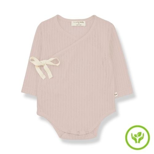 1+ in the family newborn melisa body organic lace knitting nude (romper)-1
