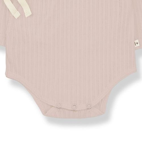 1+ in the family newborn melisa body organic lace knitting nude (romper)-5