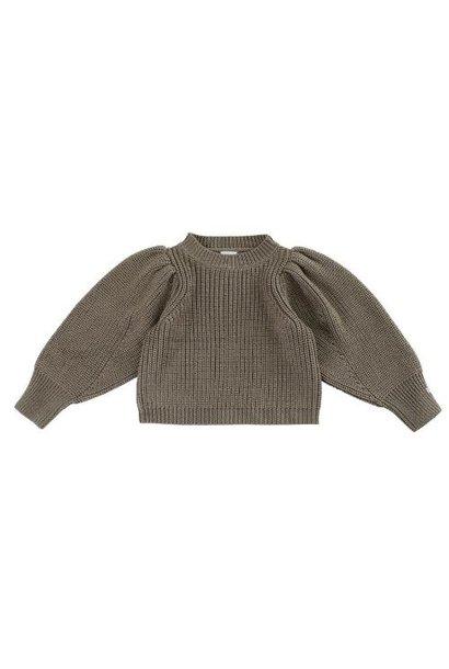Donsje Megan Sweater Forest Brown Melange (trui)