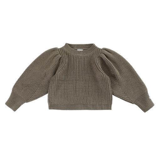 Donsje Megan Sweater Forest Brown Melange (trui)-1