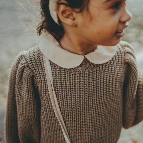 Donsje Megan Sweater Forest Brown Melange (trui)-2