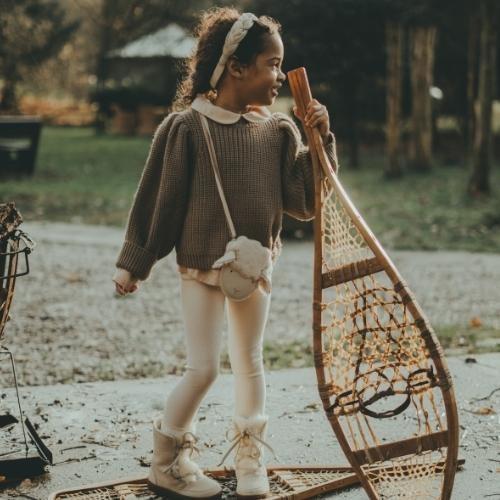 Donsje Megan Sweater Forest Brown Melange (trui)-3