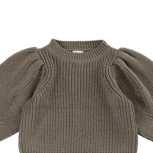 Donsje Megan Sweater Forest Brown Melange (trui)-4