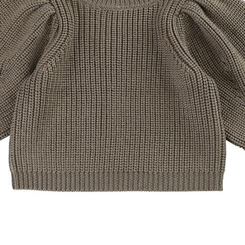 Donsje Megan Sweater Forest Brown Melange (trui)-5