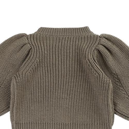 Donsje Megan Sweater Forest Brown Melange (trui)-8