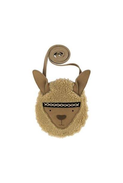 Donsje Britta Exclusive Purse | Alpaca Beige Curly Faux Fur (tas)