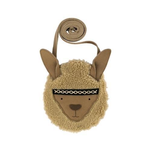 Donsje Britta Exclusive Purse | Alpaca Beige Curly Faux Fur (tas)-1