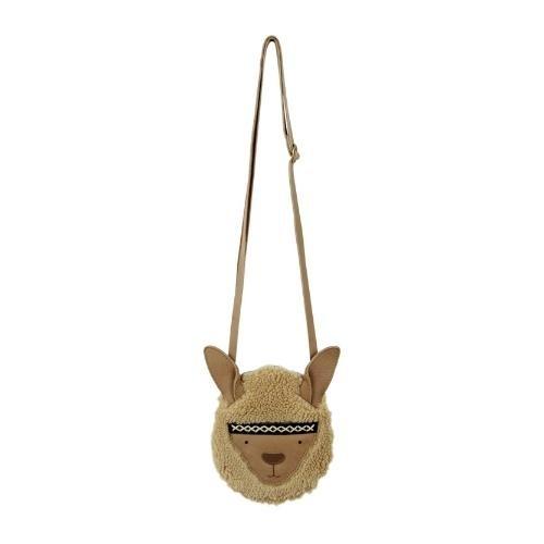 Donsje Britta Exclusive Purse | Alpaca Beige Curly Faux Fur (tas)-3