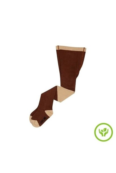 CarlijnQ Tights - diagonal brown/sand (maillot)