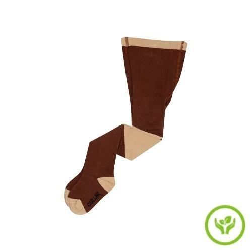 CarlijnQ Tights - diagonal brown/sand (maillot)-1