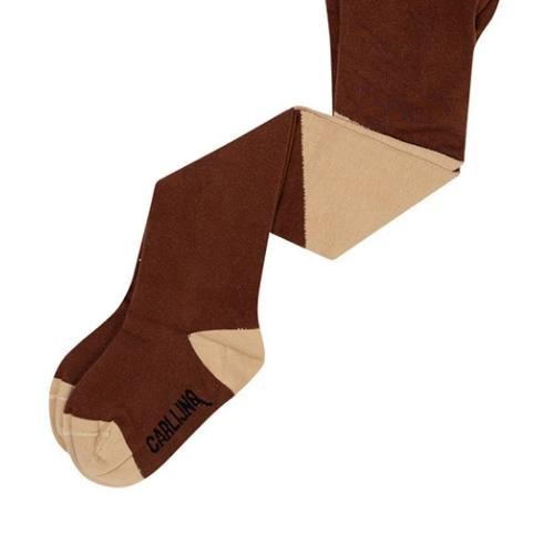 CarlijnQ Tights - diagonal brown/sand (maillot)-2