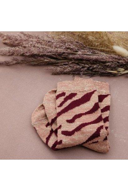 Louise Misha Socks Chachi Sienna Brush Stripes (sokken)