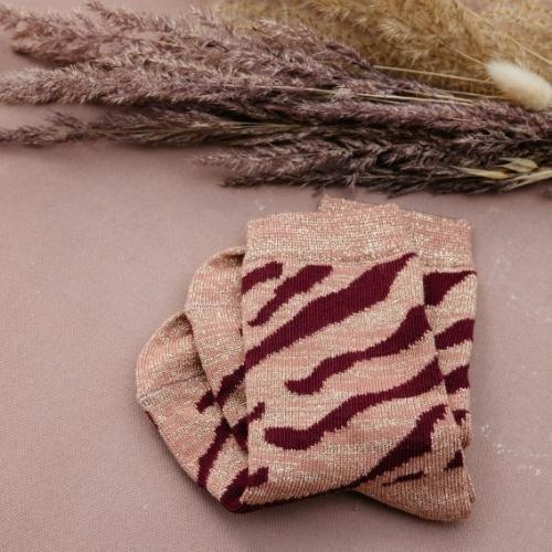 Louise Misha Socks Chachi Sienna Brush Stripes (sokken)-1
