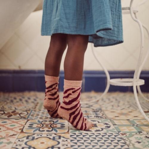 Louise Misha Socks Chachi Sienna Brush Stripes (sokken)-3