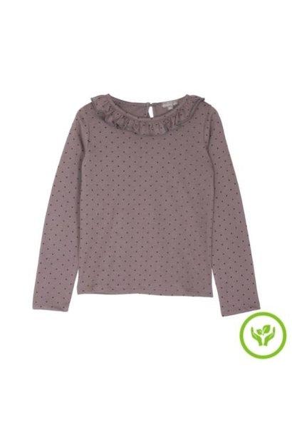 Emile et Ida Tee Shirt Lavande Pois Collerette (shirt)