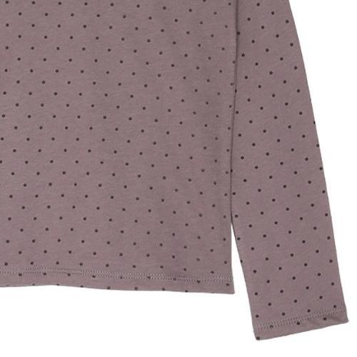 Emile et Ida Tee Shirt Lavande Pois Collerette (shirt)-3