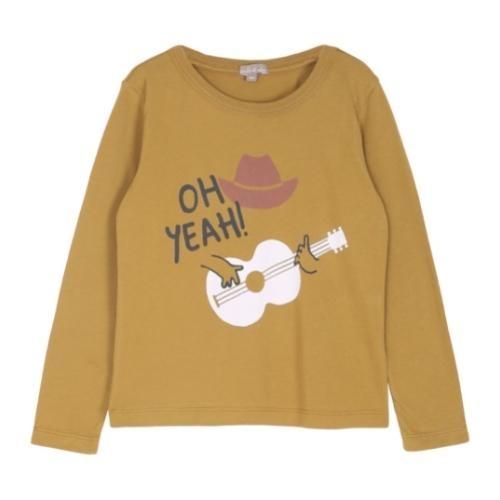 Emile et Ida Tee Shirt Toffee Cowboy Imprime (shirt)-1