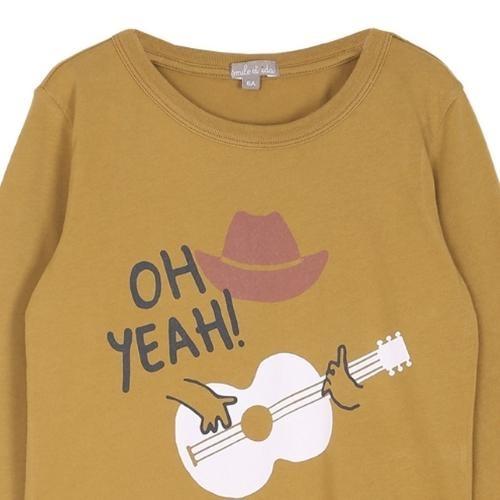 Emile et Ida Tee Shirt Toffee Cowboy Imprime (shirt)-2