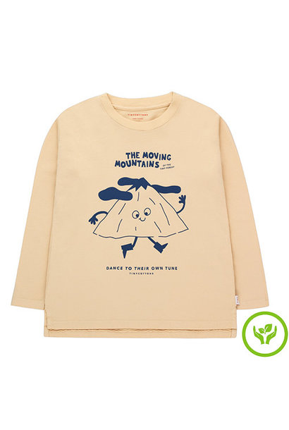 Tinycottons Moving Mountains Tee cappuccino/deep blue (shirt)