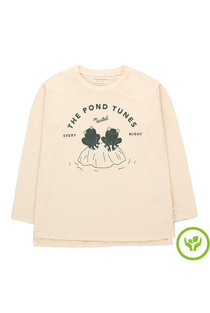Tinycottons Pond Tunes Tee light cream/dark green (shirt)