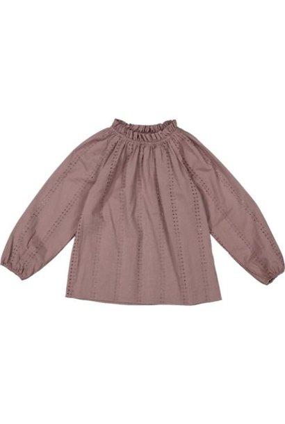 MarMar Copenhagen Taja Broderie Anglaise Plum (blouse)
