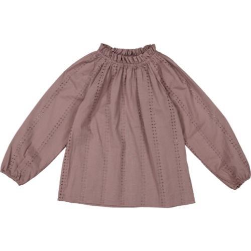 MarMar Copenhagen Taja Broderie Anglaise Plum (blouse)-1
