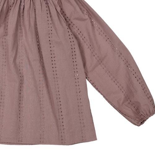 MarMar Copenhagen Taja Broderie Anglaise Plum (blouse)-4