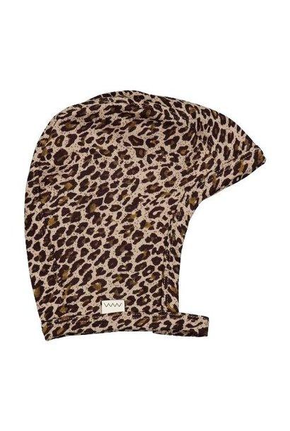 MarMar Copenhagen Leo Hoody Baby Leopard Sandstone Leo (muts)