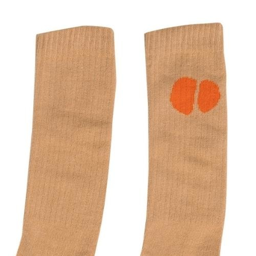 maed for mini Pearly Prawn Kneesocks Beige (kniesokken)-2