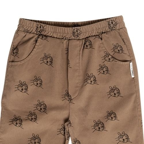 maed for mini Cheerful Caracal Chino Brown tiger aop (broek)-4