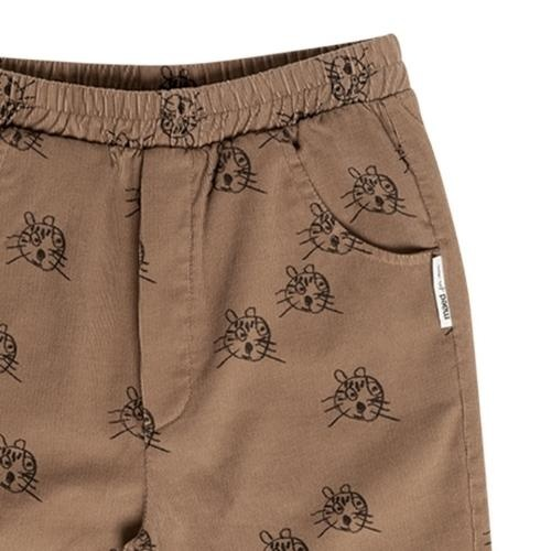 maed for mini Cheerful Caracal Chino Brown tiger aop (broek)-5