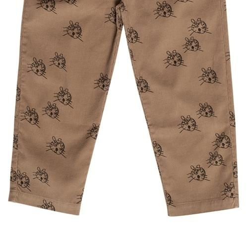 maed for mini Cheerful Caracal Chino Brown tiger aop (broek)-6