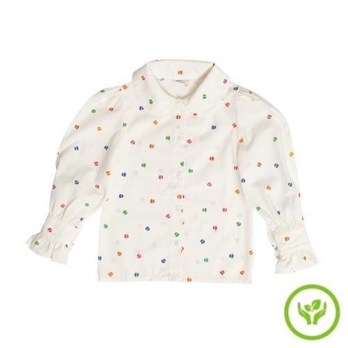 maed for mini Bomb Boa Blouse White confetti aop (top)-1