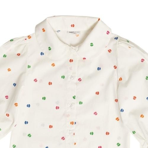maed for mini Bomb Boa Blouse White confetti aop (top)-5