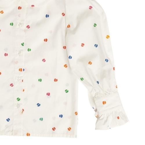 maed for mini Bomb Boa Blouse White confetti aop (top)-6