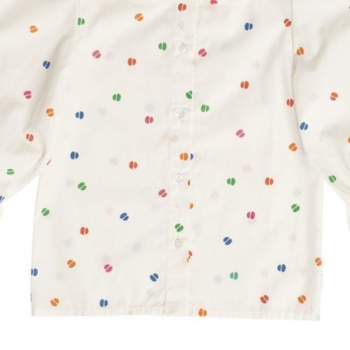 maed for mini Bomb Boa Blouse White confetti aop (top)-7
