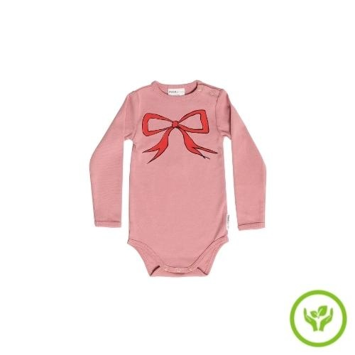 maed for mini Bow Bandicoot Romper Dusty pink (body)-1