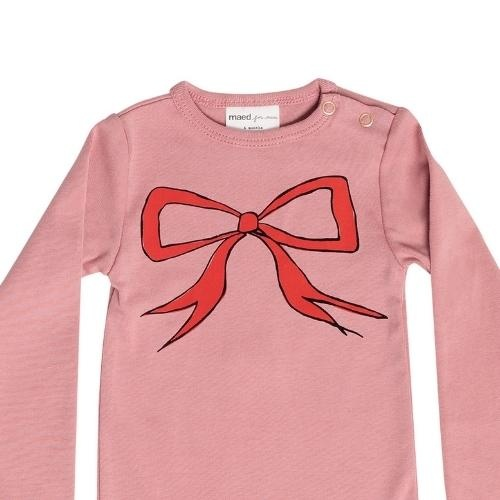 maed for mini Bow Bandicoot Romper Dusty pink (body)-2