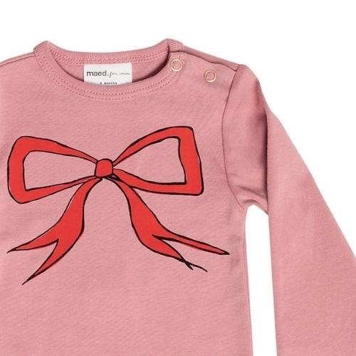 maed for mini Bow Bandicoot Romper Dusty pink (body)-3