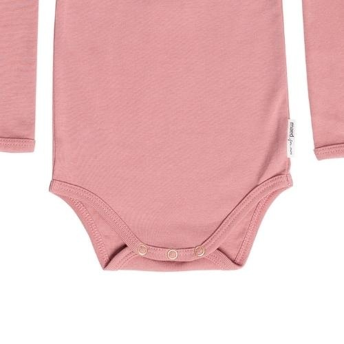 maed for mini Bow Bandicoot Romper Dusty pink (body)-4