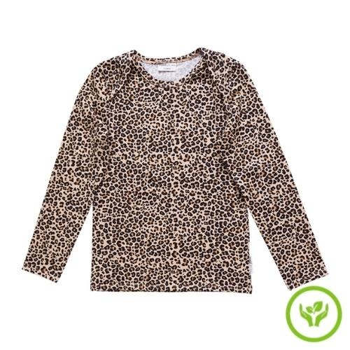 maed for mini Lazy Lion Longsleeve Small leopard aop (shirt)-1