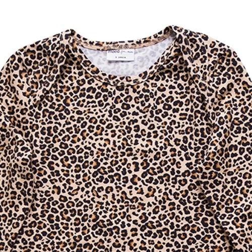maed for mini Lazy Lion Longsleeve Small leopard aop (shirt)-3
