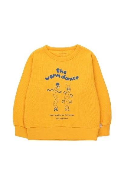 Tinycottons The Worm Dance Sweatshirt honey/ultramarine (trui)