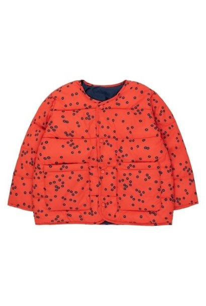 Tinycottons Daisies Reversible Short Jacket red/deep blue (jas)