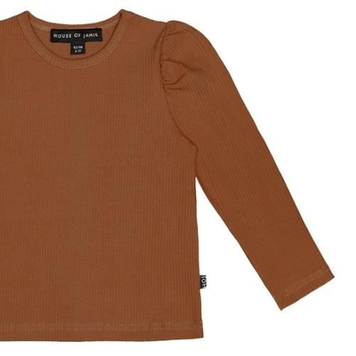 House of Jamie Puff Shoulder Tee Ginger Bread (shirt)-5