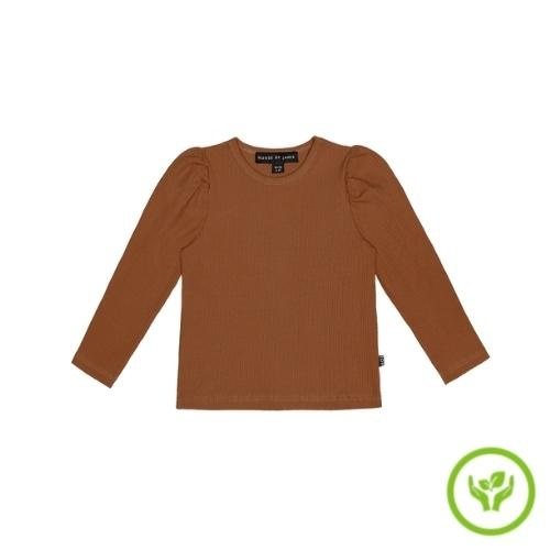 House of Jamie Puff Shoulder Tee Ginger Bread (shirt)-1