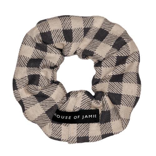 House of Jamie Scrunchie Charcoal Vichy (wokkel)-4