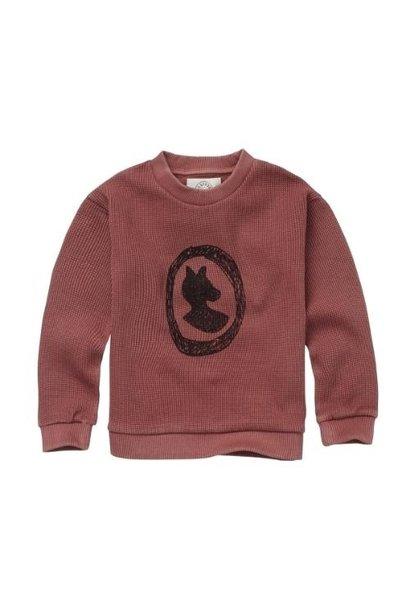 Sproet & Sprout Sweatshirt Fox Badge Fig (trui)