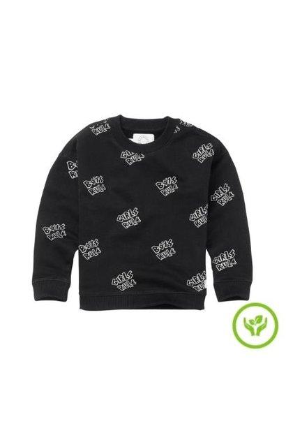 Sproet & Sprout Sweatshirt Rules print Black (trui)